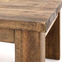 Coleridge Rustic Solid Wood Coffee Table with Shelf